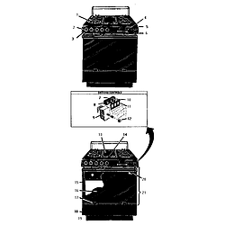 GSC30CVB Gas Range Range Parts diagram