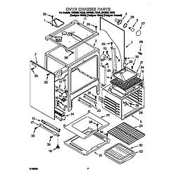 GW395LEGQ0 Gas Range Oven chassis Parts diagram