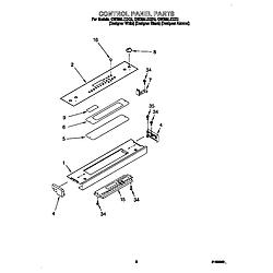 GW395LEGZ0 Gas Range Control panel Parts diagram