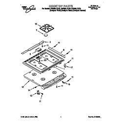 GW395LEGZ0 Gas Range Cooktop Parts diagram