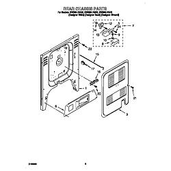 GW395LEGZ0 Gas Range Rear chassis Parts diagram