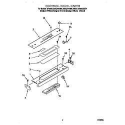 GY396LXGQ4 Electric Range Control panel Parts diagram