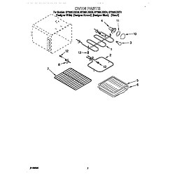 GY396LXGQ4 Electric Range Oven Parts diagram
