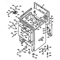 JBP78GS1BB Electric Range Cabinet Parts diagram