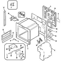 JDS8850ASS Range Body Parts diagram