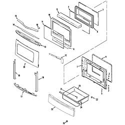 JDS8850ASS Range Door/drawer (stl) Parts diagram