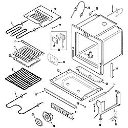 JDS8850ASS Range Oven/base Parts diagram