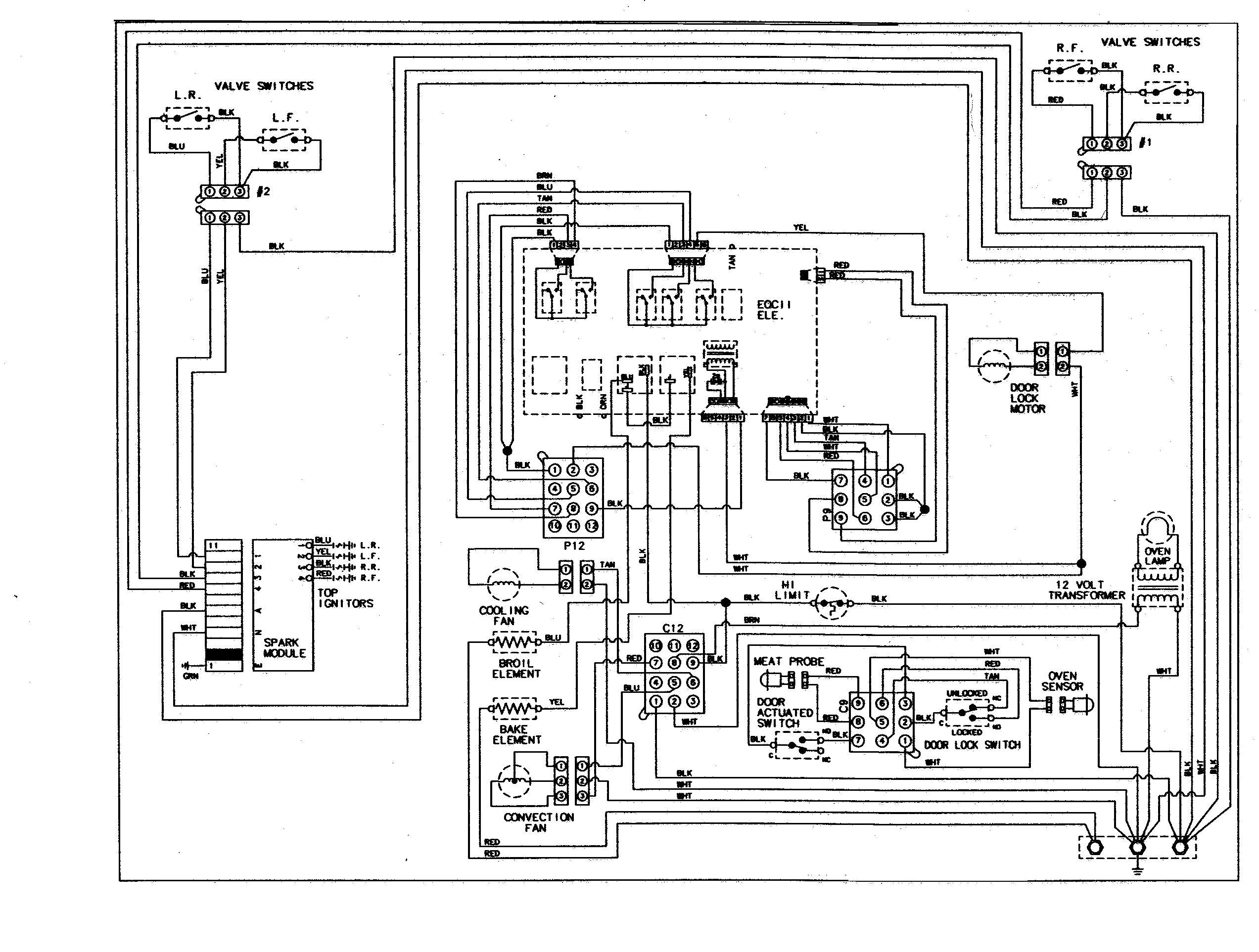 JDS8850ASS Range Wiring information Parts diagram