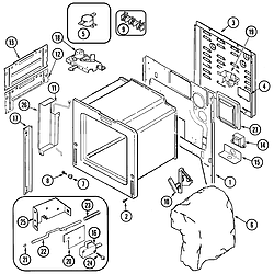JDS9860AAB Slide-In Dual-Fuel Downdraft Range Body Parts diagram