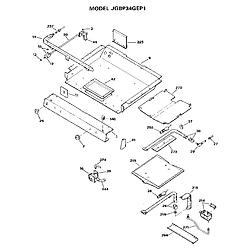 JGBP34GEP1 Gas Range Burner section Parts diagram