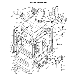 JGBP34GEP1 Gas Range Cabinet Parts diagram