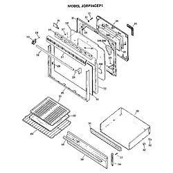 JGBP34GEP1 Gas Range Door Parts diagram