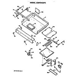 JGBP34GEP2AD Gas Range Burner assembly Parts diagram