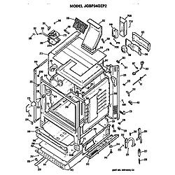 JGBP34GEP2AD Gas Range Main body Parts diagram
