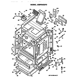 JGBP35GEP2WG Gas Range Cabinet Parts diagram