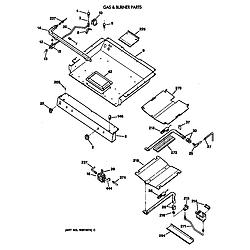 JGBP35WEV3WW Gas Range Gas & burner Parts diagram
