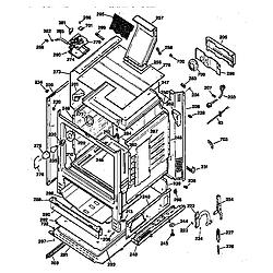 JGBP79AEW1AA Gas Range Body Parts diagram