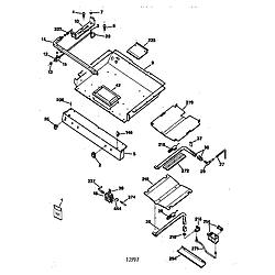 JGBP79AEW1AA Gas Range Gas burner Parts diagram