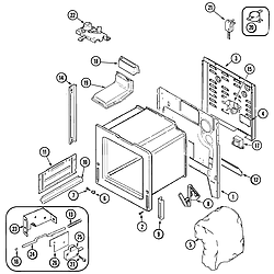 JGS8750ADB Slide-In Gas Range Body Parts diagram