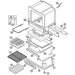 JGS8750ADB Slide-In Gas Range Oven/base Parts diagram