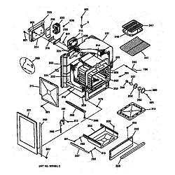 JGSP40AET1AA Gas Slide-In Range Body Parts diagram