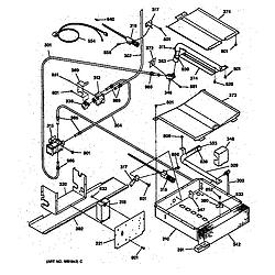 JGSP40AET1AA Gas Slide-In Range Oven burner Parts diagram