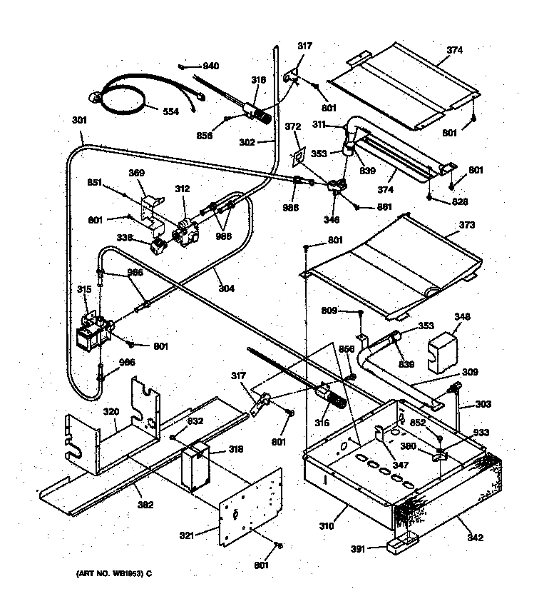 wiring diagram for ge stove burners general electric jgsp40aet1aa gas slide-in range timer ...