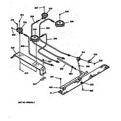 JGSP40AET1AA Gas Slide-In Range Top burner Parts diagram