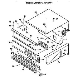 JKP13GP1 Electric Wall Oven Control Parts diagram