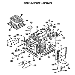 JKP13GP1 Electric Wall Oven Oven Parts diagram