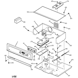 JKP15 Electric Oven Control panel Parts diagram