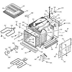 JKP15BA2BB Electric Oven Body Parts diagram