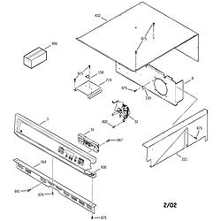 JKP15BA2BB Electric Oven Control panel Parts diagram