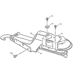 JKP15BA2BB Electric Oven Door lock Parts diagram