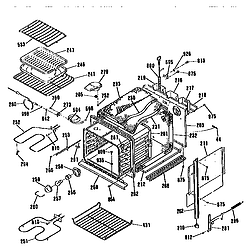JKP17WT1WW Electric Wall Oven Main body Parts diagram