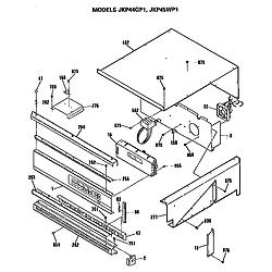 JKP45WP1 Electric Wall Oven Control Parts diagram