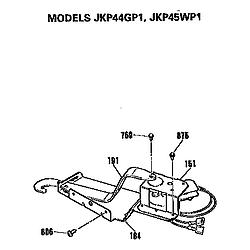 JKP45WP1 Electric Wall Oven Door lock Parts diagram