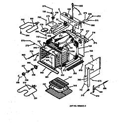 JMP28BW1AD Electric Range Body Parts diagram