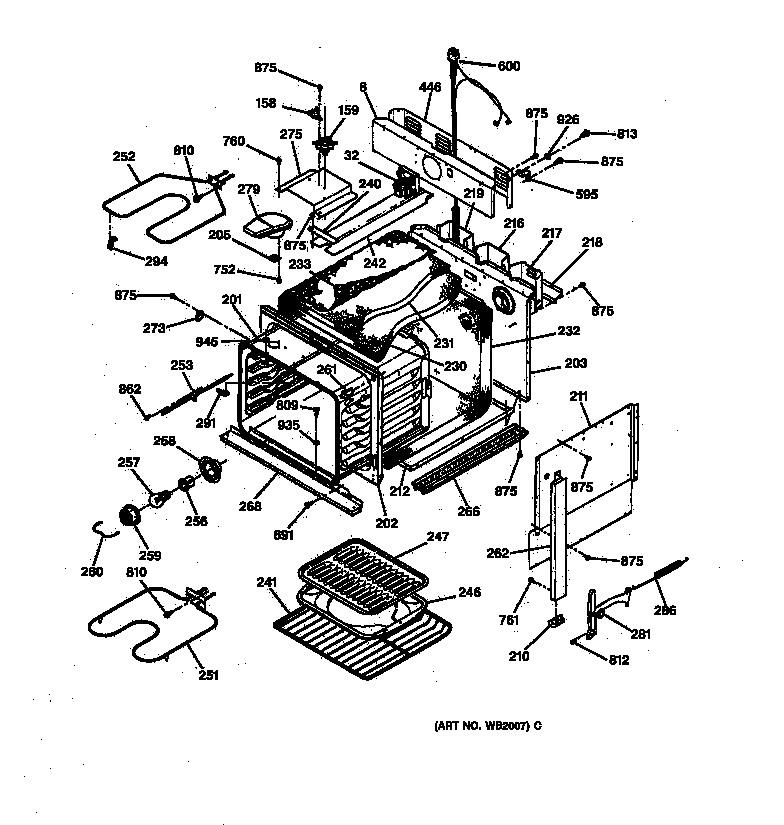Jmp28bw1ad Electric Range Body Parts Diagram