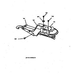 JMP28BW1AD Electric Range Door lock Parts diagram