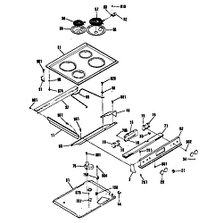 JSP31GP Electric Range Cooktop Parts diagram