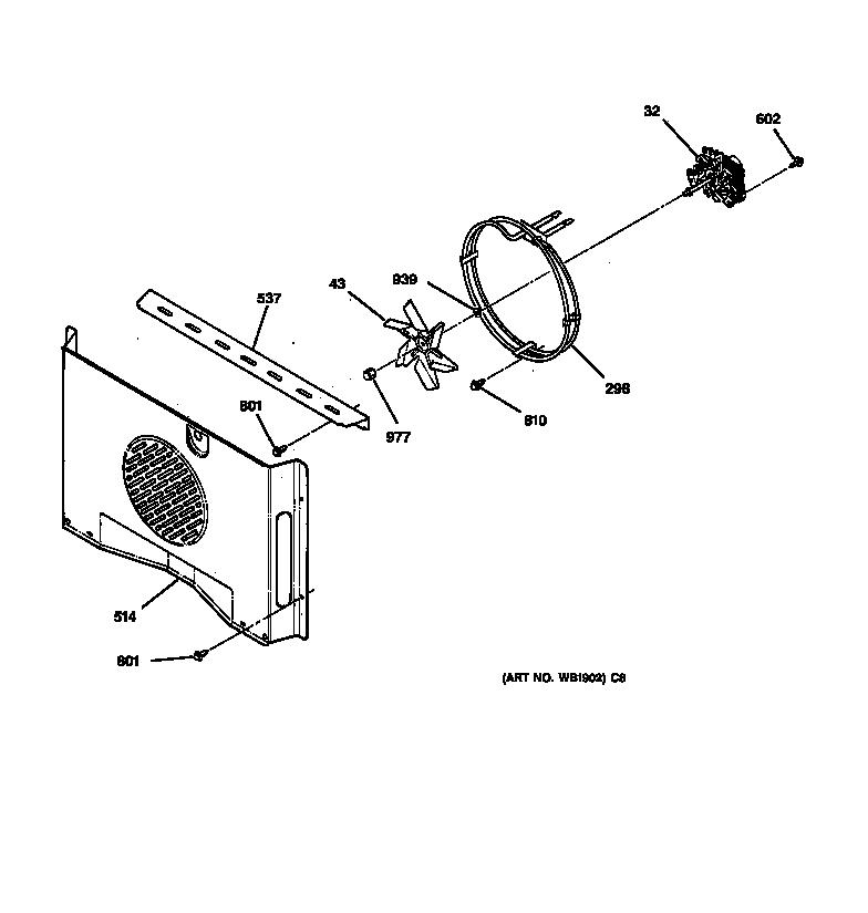 jtp18 electric oven fan parts diagram