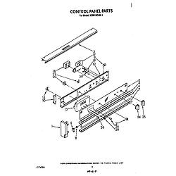 KEBI100VBL Electric Built-In Oven Control panel Parts diagram