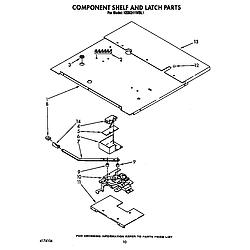KEBI241WBL1 Electric Range Component shelf and latch Parts diagram