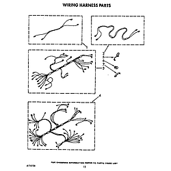 KEBI241WBL1 Electric Range Wiring harness Parts diagram