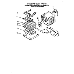 KEBS277DWH1 Built-In Electric Oven Internal oven Parts diagram