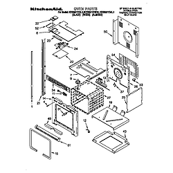 KEBS277DWH1 Built-In Electric Oven Oven Parts diagram