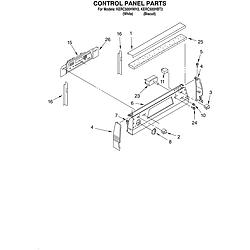 KERC500HWH3 Electric Range Control panel Parts diagram