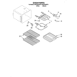 KERC500HWH3 Electric Range Oven Parts diagram