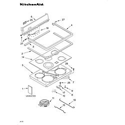 KERC507HWH3 Electric Range Cooktop/literature Parts diagram